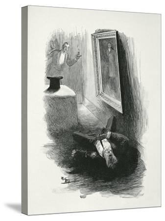 Illustration from The Picture of Dorian Gray by Oscar Wilde-Paul Thiriat-Stretched Canvas Print