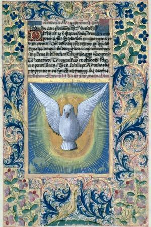 Holy Spirit, from the Book of Hours of Louis D'Orleans, c.1469-Jean Colombe-Stretched Canvas Print