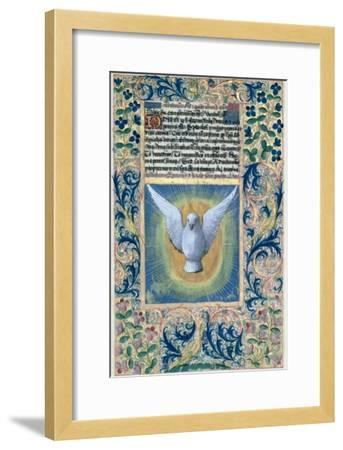 Holy Spirit, from the Book of Hours of Louis D'Orleans, c.1469-Jean Colombe-Framed Giclee Print
