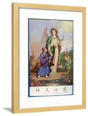 Guardian Angel, Religious Imagery For the Chinese Market--Framed Giclee Print