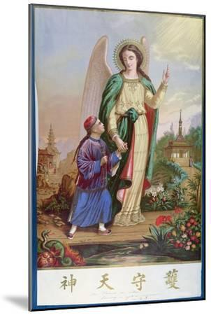 Guardian Angel, Religious Imagery For the Chinese Market--Mounted Giclee Print