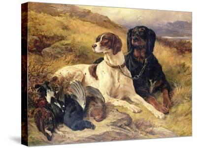 Serving the Guns-Edwin Henry Landseer-Stretched Canvas Print