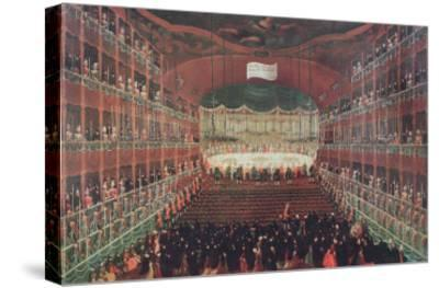 Meal at the San Benedetto Theatre-Gabriele Bella-Stretched Canvas Print
