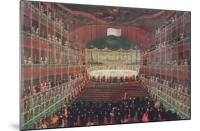 Meal at the San Benedetto Theatre-Gabriele Bella-Mounted Giclee Print