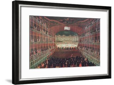 Meal at the San Benedetto Theatre-Gabriele Bella-Framed Giclee Print