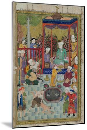 Princely Reception, Illustration from the Shahnama--Mounted Giclee Print
