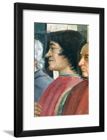 Lorenzo Medici, St. Francis Receives the Rule of Order, Cycle: Life of St. Francis of Assisi, 1486-Domenico Ghirlandaio-Framed Giclee Print