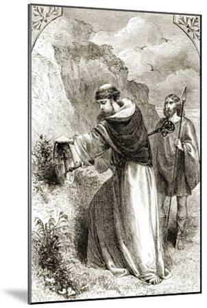 St. Patrick Marking Connal's Shield, Three Wonder-Working Saints of Ireland--Mounted Giclee Print