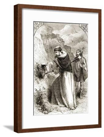 St. Patrick Marking Connal's Shield, Three Wonder-Working Saints of Ireland--Framed Giclee Print