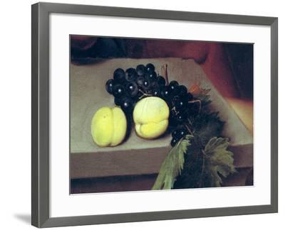 The Sick Bacchus, Detail of Peaches and Grapes, 1591-Caravaggio-Framed Giclee Print
