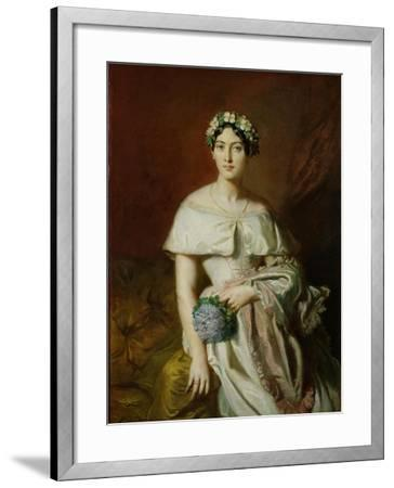 Mademoiselle Marie-Therese de Cabarrus, 1848-Theodore Chasseriau-Framed Giclee Print