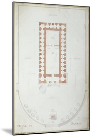 Plan of the Temple of Solomon in Jerusalem, Mid 19th Century-Andre Lenoir-Mounted Giclee Print