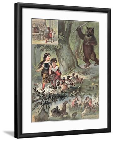 Hansel and Gretel in the Forest, c.1880-Carl Offterdinger-Framed Giclee Print