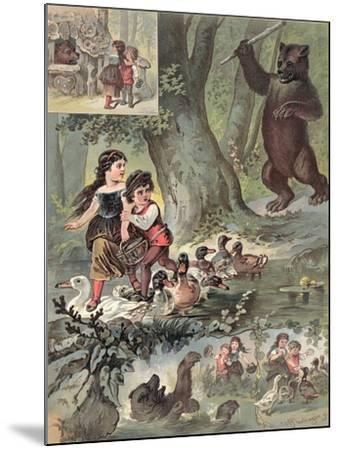 Hansel and Gretel in the Forest, c.1880-Carl Offterdinger-Mounted Giclee Print