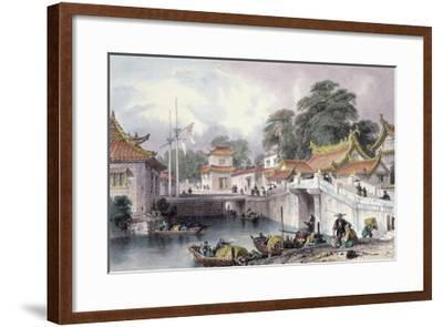Ancient Bridge over the River at Chapro, c.1850-Thomas Allom-Framed Giclee Print