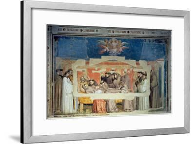 The Death of St. Francis, from the Bardi Chapel-Giotto di Bondone-Framed Giclee Print