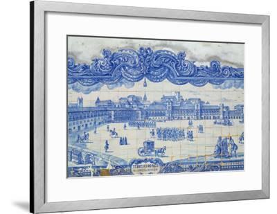 Azulejos Tiles Depicting the Praca Do Comercio, Lisbon--Framed Giclee Print