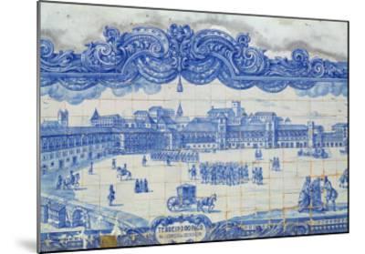 Azulejos Tiles Depicting the Praca Do Comercio, Lisbon--Mounted Giclee Print