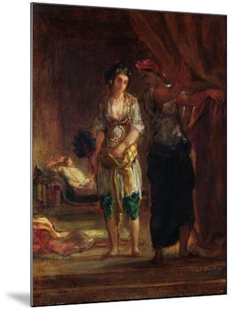 Interior of a Harem in Oran, c.1847-Eugene Delacroix-Mounted Giclee Print
