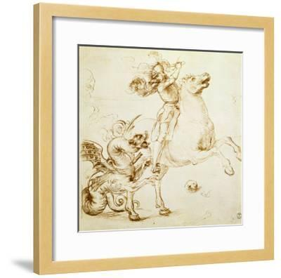 St. George and the Dragon-Raphael-Framed Giclee Print