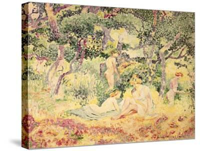 Nudes in a Wood, 1905-Henri Edmond Cross-Stretched Canvas Print