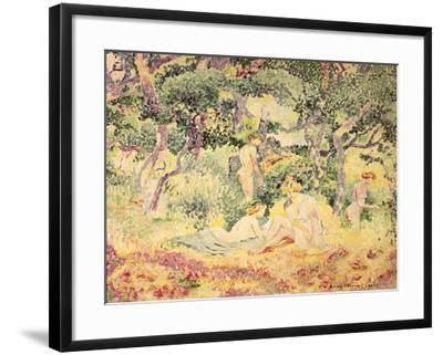 Nudes in a Wood, 1905-Henri Edmond Cross-Framed Giclee Print