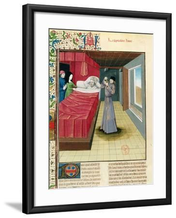 Doctor Performing a Urine Analysis, Livre Des Proprietes Des Choses L'Anglais, 1480--Framed Giclee Print