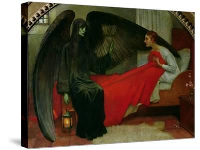 The Young Girl and Death, c.1900-Marianne Stokes-Stretched Canvas Print