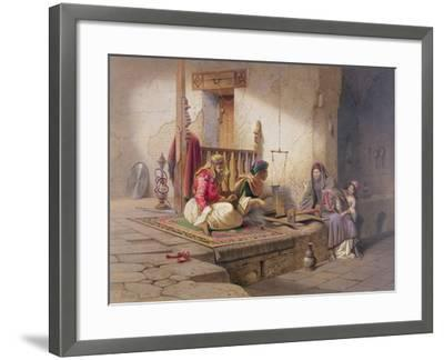 Weaver in Esna, One of 24 Illustrations Produced by G.W. Seitz, Printed c.1873-Carl Friedrich Heinrich Werner-Framed Giclee Print