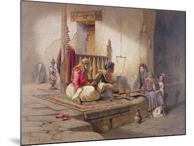 Weaver in Esna, One of 24 Illustrations Produced by G.W. Seitz, Printed c.1873-Carl Friedrich Heinrich Werner-Mounted Giclee Print