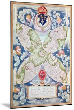 Map of the North Pole, from Cosmographie Universelle, 1555-Guillaume Le Testu-Mounted Giclee Print