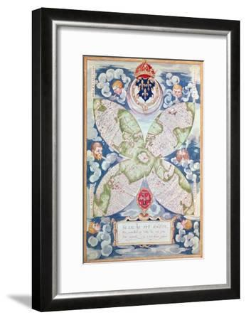 Map of the North Pole, from Cosmographie Universelle, 1555-Guillaume Le Testu-Framed Giclee Print