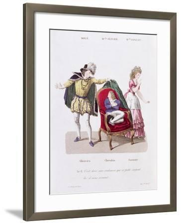 Count Discovers Cherubin, The Marriage of Figaro by Pierre Augustin Caron de Beamarchais--Framed Giclee Print