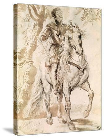 Study For an Equestrian Portrait of the Duke of Lerma-Peter Paul Rubens-Stretched Canvas Print