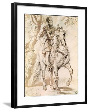 Study For an Equestrian Portrait of the Duke of Lerma-Peter Paul Rubens-Framed Giclee Print