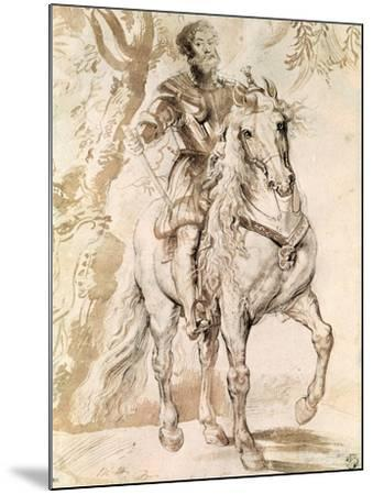 Study For an Equestrian Portrait of the Duke of Lerma-Peter Paul Rubens-Mounted Giclee Print