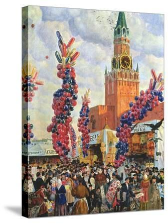 Easter Market at the Moscow Kremlin, 1917-B^ M^ Kustodiev-Stretched Canvas Print