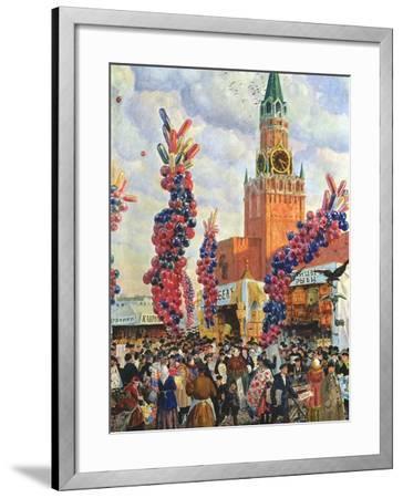 Easter Market at the Moscow Kremlin, 1917-B^ M^ Kustodiev-Framed Giclee Print