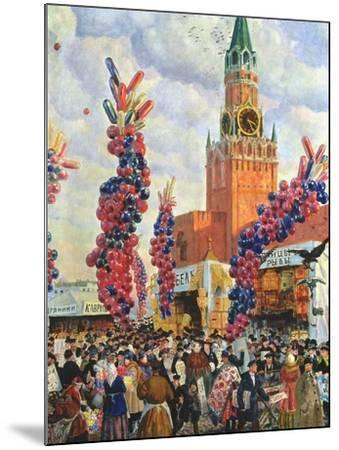 Easter Market at the Moscow Kremlin, 1917-B^ M^ Kustodiev-Mounted Giclee Print