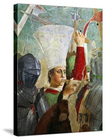 Trumpeter, Battle of Heraclius and Chosroes, Legend of the True Cross Cycle, Completed 1464-Piero della Francesca-Stretched Canvas Print