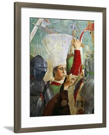 Trumpeter, Battle of Heraclius and Chosroes, Legend of the True Cross Cycle, Completed 1464-Piero della Francesca-Framed Giclee Print