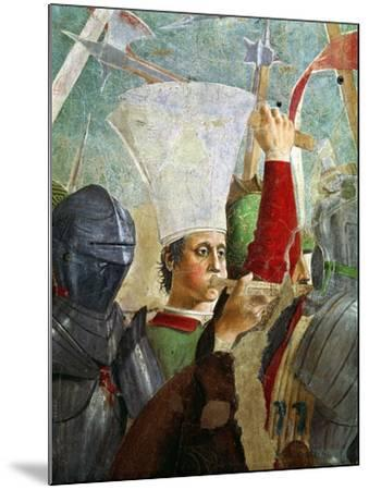 Trumpeter, Battle of Heraclius and Chosroes, Legend of the True Cross Cycle, Completed 1464-Piero della Francesca-Mounted Giclee Print