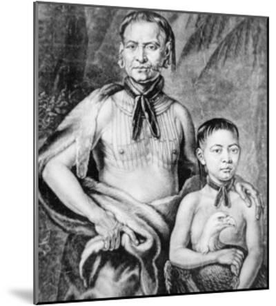 Tomochichi and His Nephew Toonahowi of the Lower Creek Tribe of the South East, 1734--Mounted Giclee Print