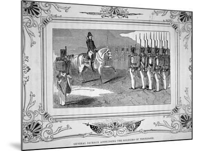 General Andrew Jackson Speaks to Tennessee Militia Before the Battle of Horsehoe Bend, 1814, 1847--Mounted Giclee Print