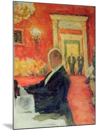 Portrait of Sergei Prokofiev at Work, 1937-Leonid Osipovic Pasternak-Mounted Giclee Print