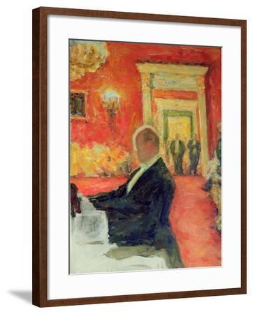 Portrait of Sergei Prokofiev at Work, 1937-Leonid Osipovic Pasternak-Framed Giclee Print