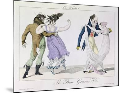 Couples Dancing the Waltz, from Le Bon Genre, c.1810--Mounted Giclee Print