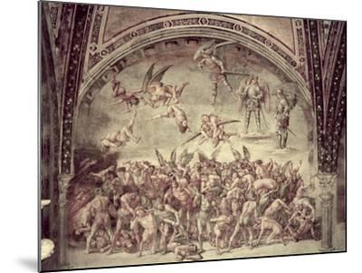 Last Judgement, the Damned, 1499-1502-Luca Signorelli-Mounted Giclee Print