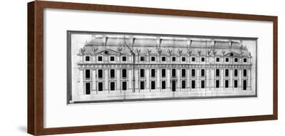 Chateau de Vincennes: Elevation of the Facade of a Corner Pavilion, 1658-Louis Le Vau-Framed Giclee Print
