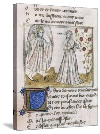 Illustration from Le Roman de La Rose--Stretched Canvas Print